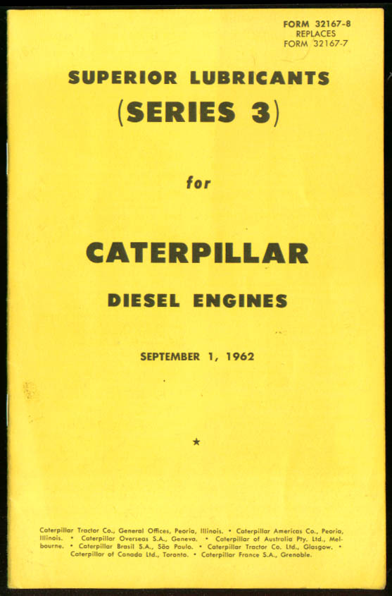 Superior Lubricants Caterpillar Diesel Engines booklet 1962