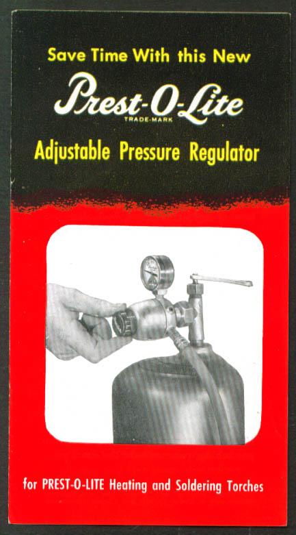 Presto-O-Lite Heat & Torch Tank Regulator folder 1951