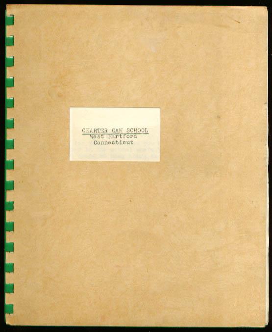 Charter Oak School W Hartford CT Guide 1954