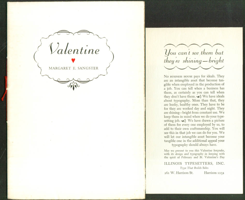 Image for Margaret Sangster Valentine keepsake 1/250 1939