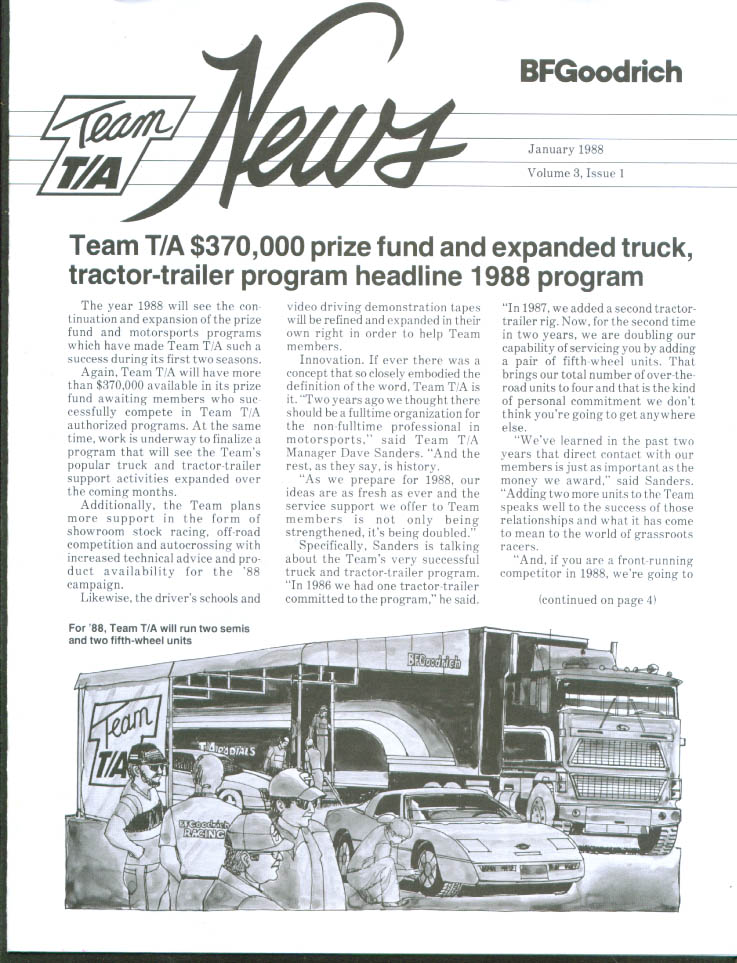 Field Support upped Goodrich Team T/A News 1/1988