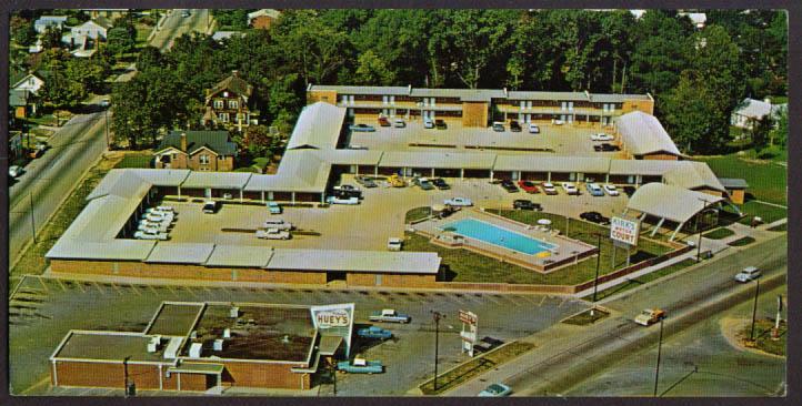 Kirk's Motor Court Burlington NC oversize postcard 1960s