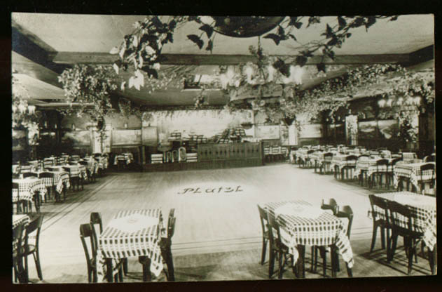 Restaurant Platzl E 86th New York City photo card 30s