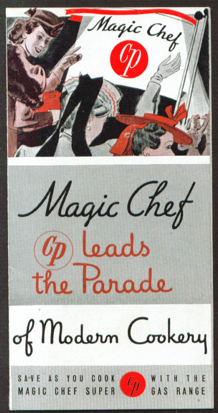 Magic Chef Gas Range Modern cookery folder 1950