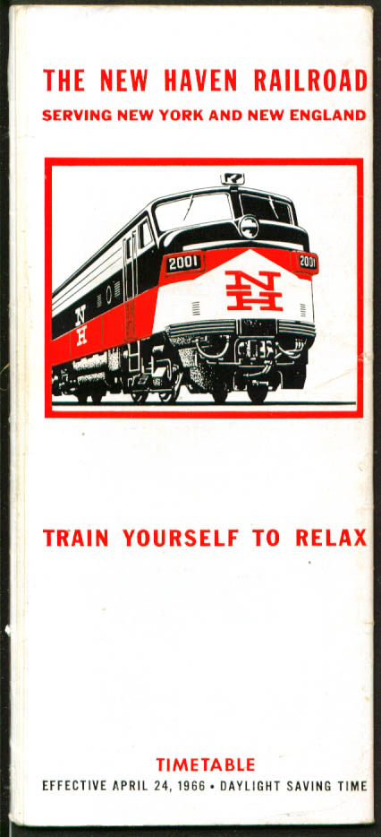 Image for New Haven Railroad Serving New York & New England Time Table 4/24 1966