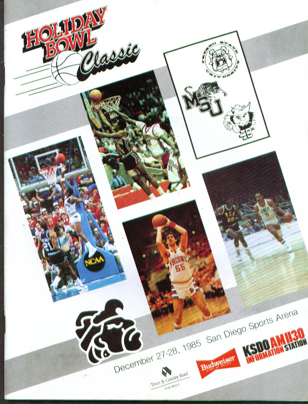 Image for Holiday Bowl Classic College Basketball program 1985