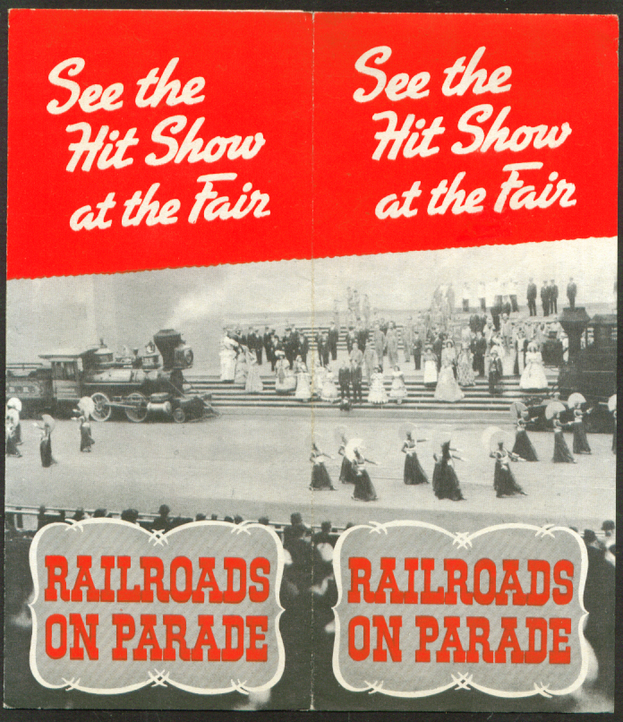 Railroads on Parade See the Hit Show New York World's Fair folder 1939
