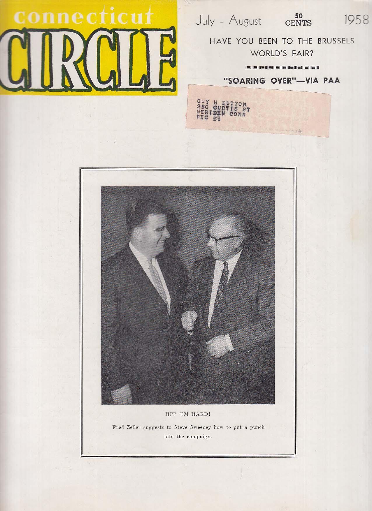 CONNECTICUT CIRCLE Brussels World's Fair Pan Am 7 1958