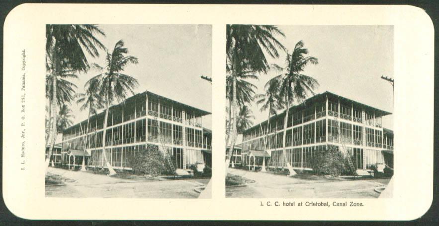 I C C Hotel Cristobal Maduro Stereoview Panama 1900s