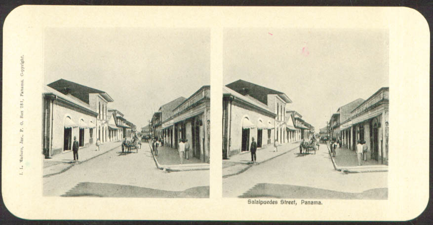 Image for Salaipuedes Street Maduro Stereoview Panama 1900s