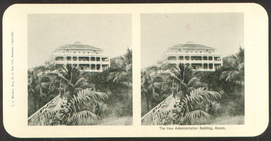 New Administration Building Maduro Stereoview Panama 1900s