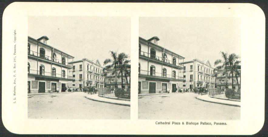Cathedral Plaza Bishops Palace Maduro Stereoview Panama