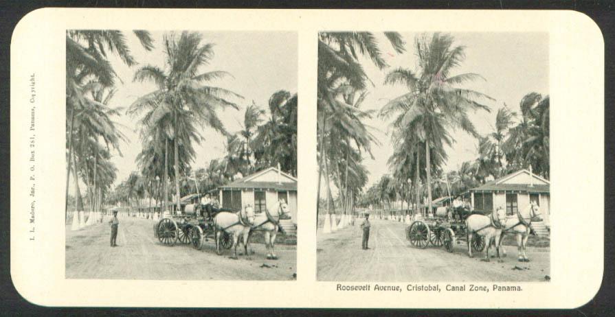Image for Roosevelt Av Cristobal Maduro Stereoview Panama 1900s