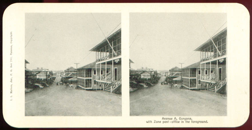 Ave A Gorgona CZ Post Office Maduro Stereoview Panama
