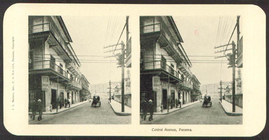 Palais Royal Central Av Maduro Stereoview Panama 1900s