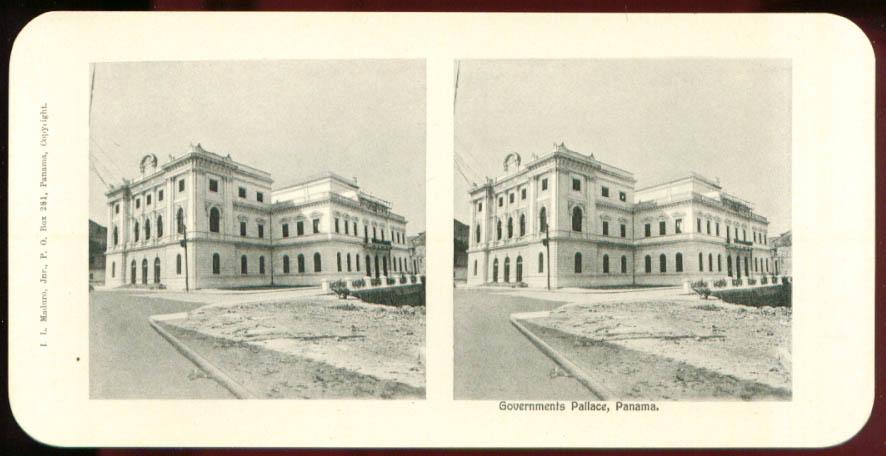 Governments Palace Maduro Stereoview Panama 1900s