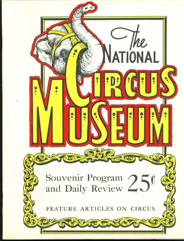 National Circus Museum Souvenir Program 1950s