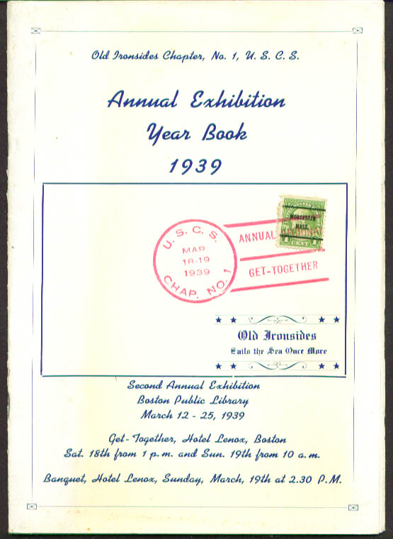 Universal Ship Cancellation Year Book 1939 Boston MA