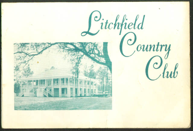 Litchfield Country Club Golf Scorecard 1960s SC