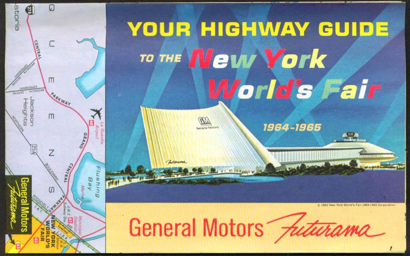 GM Futurama Highway Guide New York World's Fair 1964