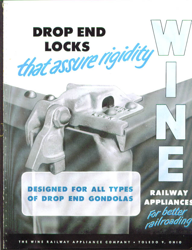 Wine Railway Appliance Drop End Gondola Lock catalog 1950s
