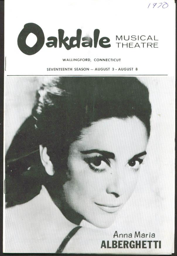 Anna Maria Alberghetti Cabaret Oakdale program 1970