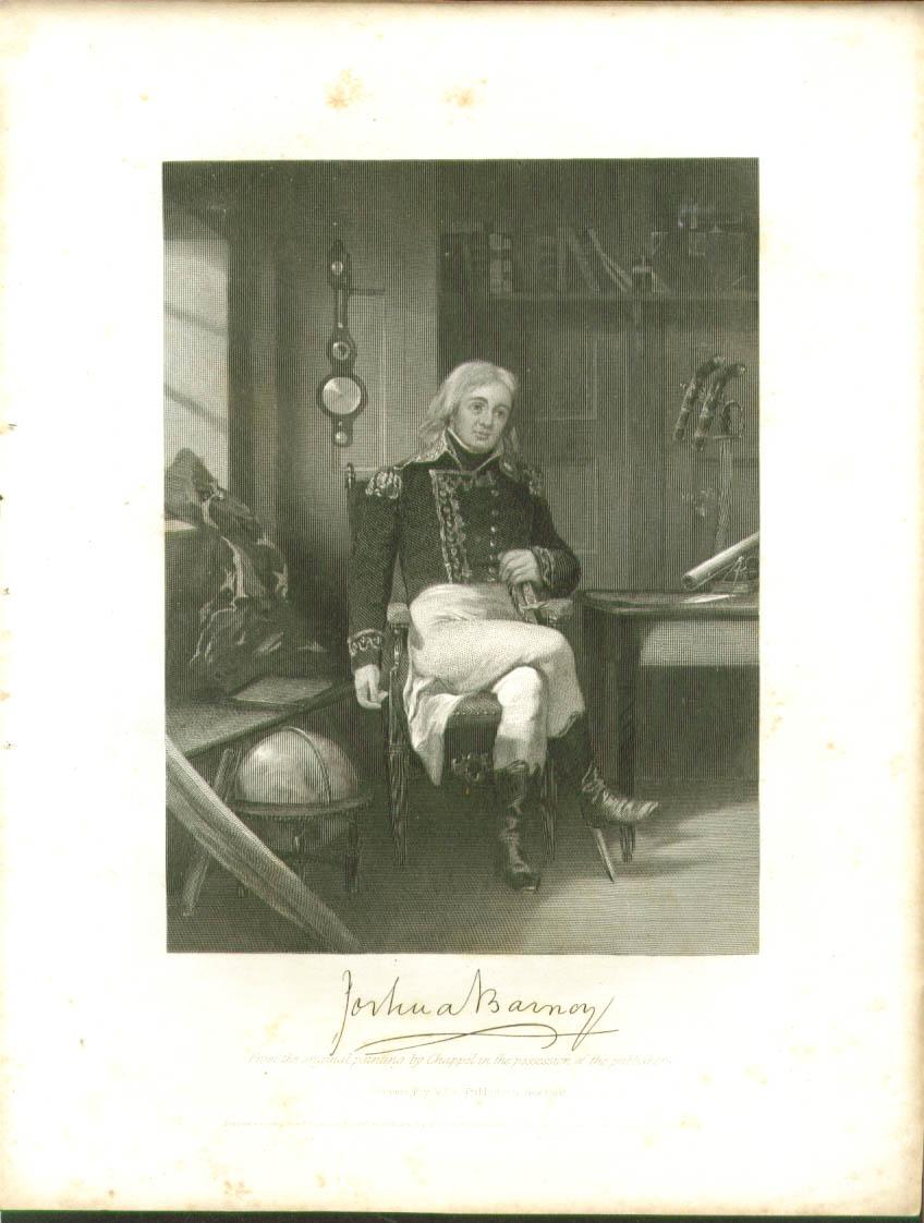 Commodore Joshua Barney engraving 1862