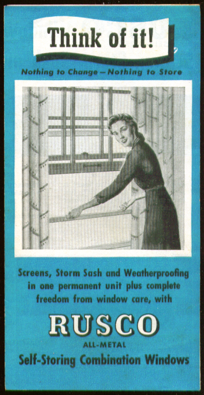 Rusco Combination Windows folder Cleveland 1947