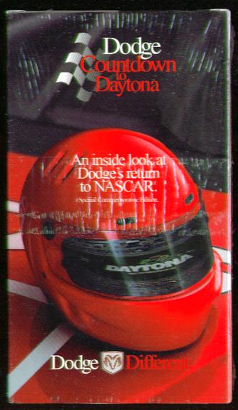 Dodge Countdown to Daytona VHS 1993 unopened NASCAR