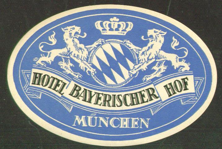 Hotel In Munchen Bayerischer Hof