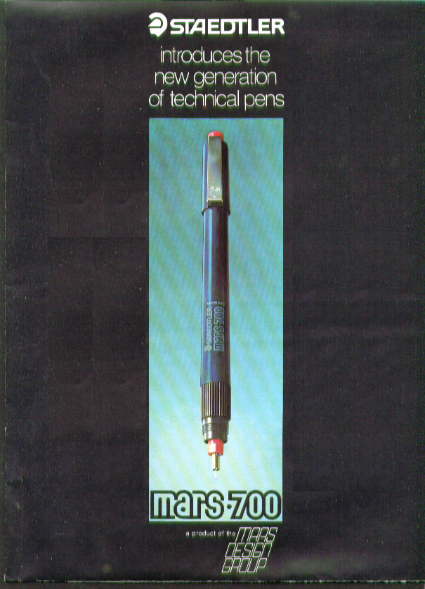 Staedtler Mars 700 Technical Pen brochure 1975