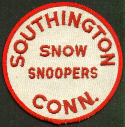 Southington Snow Snoopers cloth patch 1960s CT