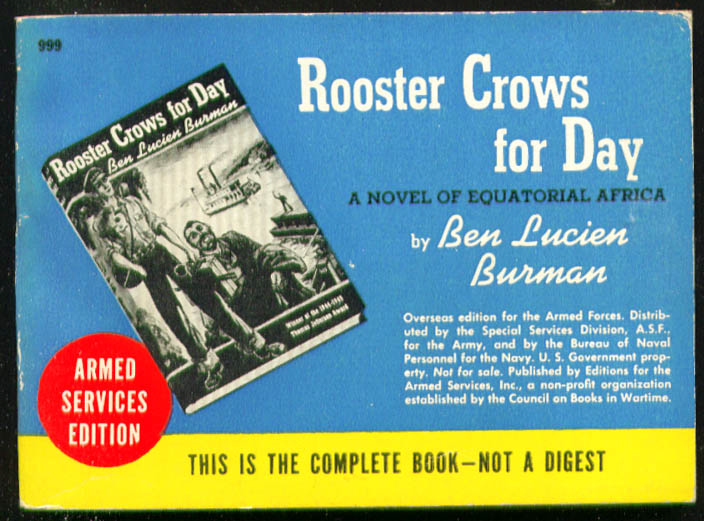 ASE 999 Ben Lucien Burman Rooster Crows for Day