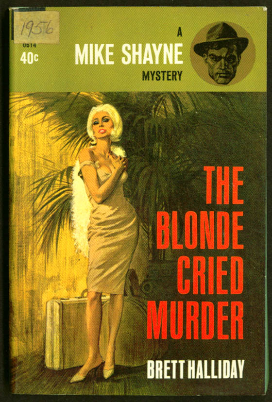 Image for Halliday The Blonde Cried Murder GGA pb cleavage