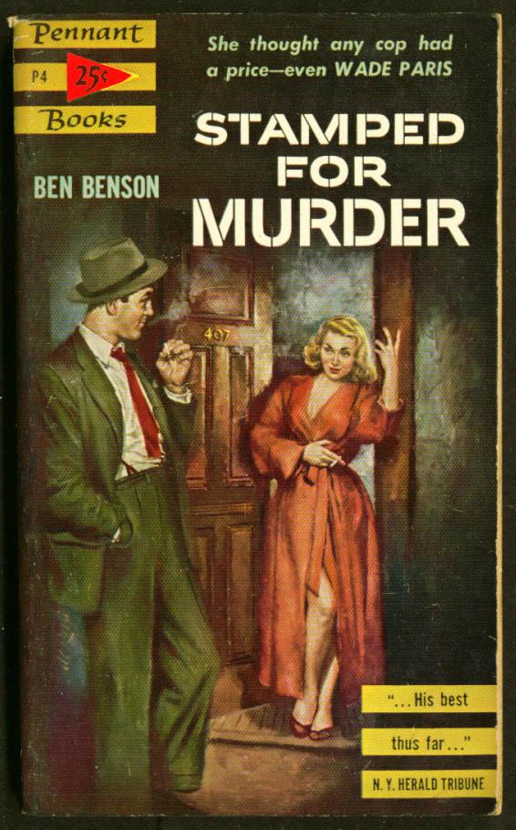 Benson: Stamped for Murder GGA pb blonde red dobe smoke