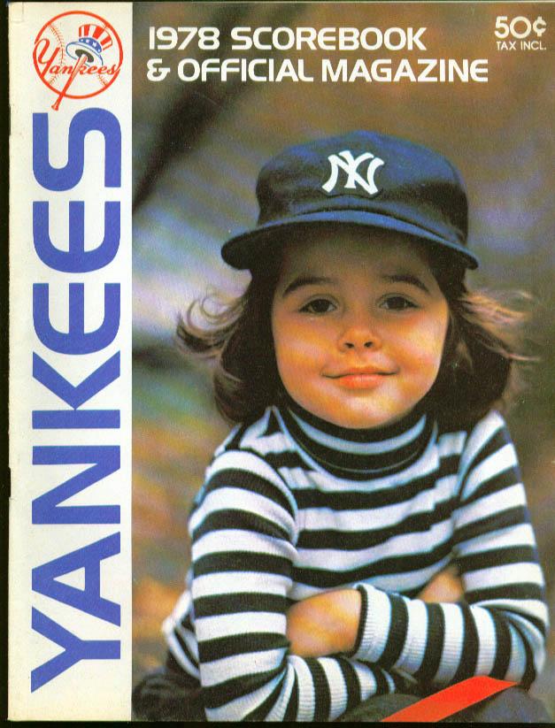 New York Yankees v Orioles Scorebook Magazine 1978