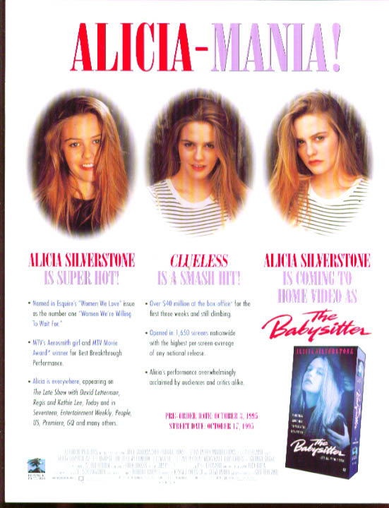 Alicia Silverstone The Babysitter .