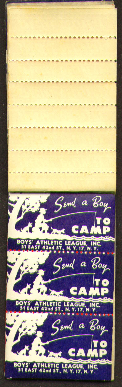 Boys Athletic League Send A Boy to Camp stickers 1950s