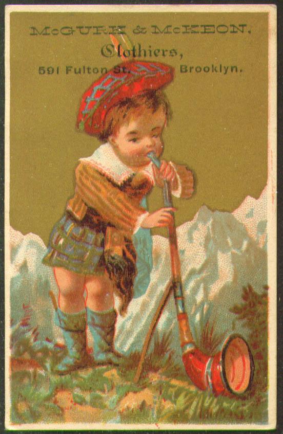 Image for McGurk & McKeon Clothiers Brooklyn alpenhorn trade card