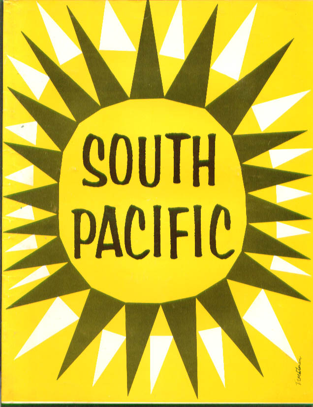 Betsy Palmer in South Pacific road show program 1950s