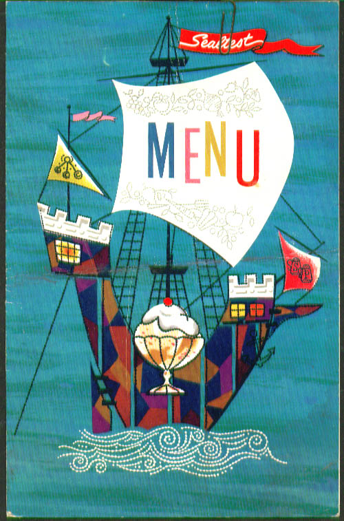 Wanat's Servicenter Menu near Wethersfield CT 1963