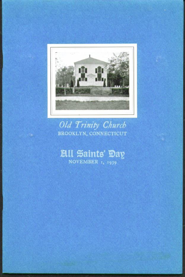 All Saints Day Old Trinity Church Brooklyn CT 1939