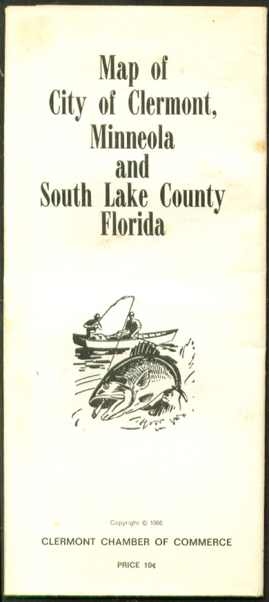 Clermont Mineola South Lake County FL Map 1966