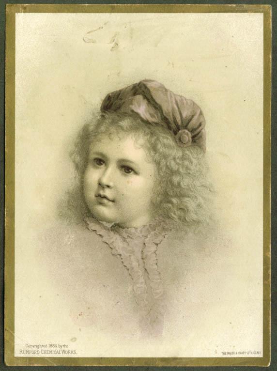 Image for Horsford's Baking Powder Providence RI trade card 1884