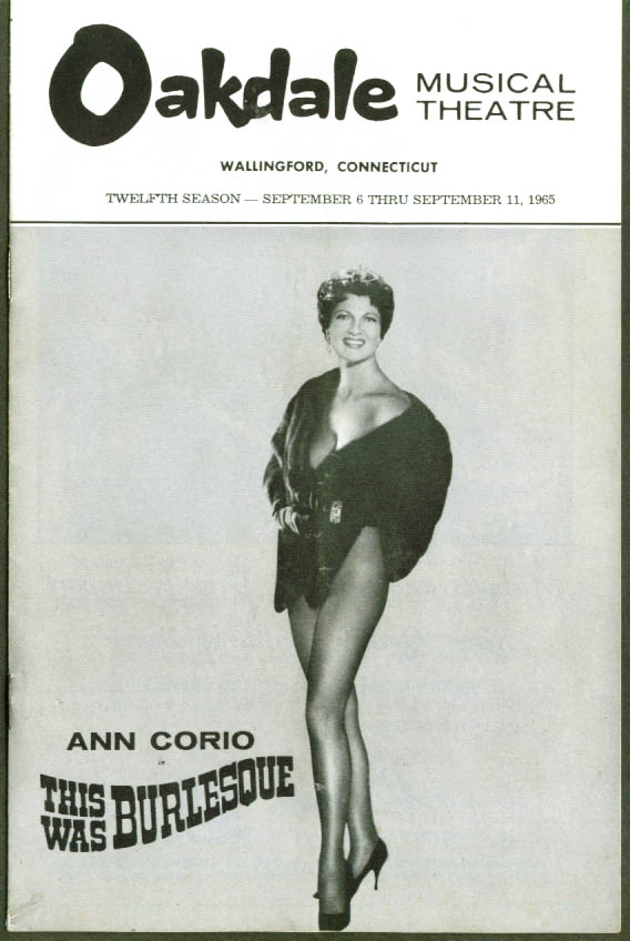 Ann Corio This Was Burlesque Oakdale CT program 1965