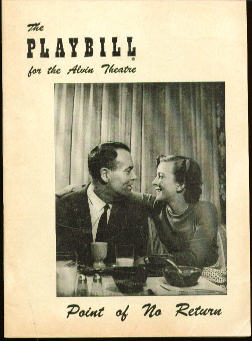 Henry Fonda Point of No Return Playbill 1952