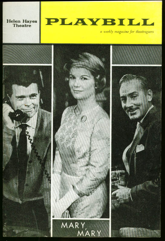 Barbara Bel Geddes Mary Mary Playbill 1st run 1961