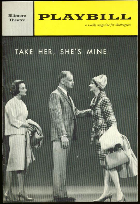Art Carney Take Her She's Mine Playbill 1st run 1962