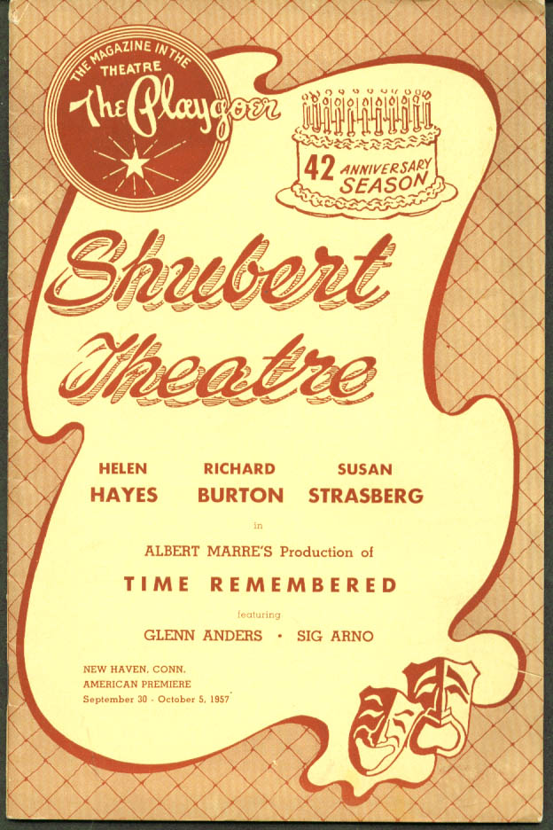 Helen Hayes Time Remembered Shubert New Haven 1957