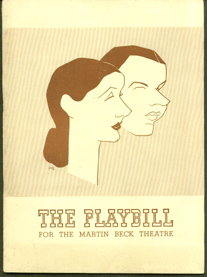 Alfred Lunt & Lynn Fontanne The Pirate Playbill 1st run 1943